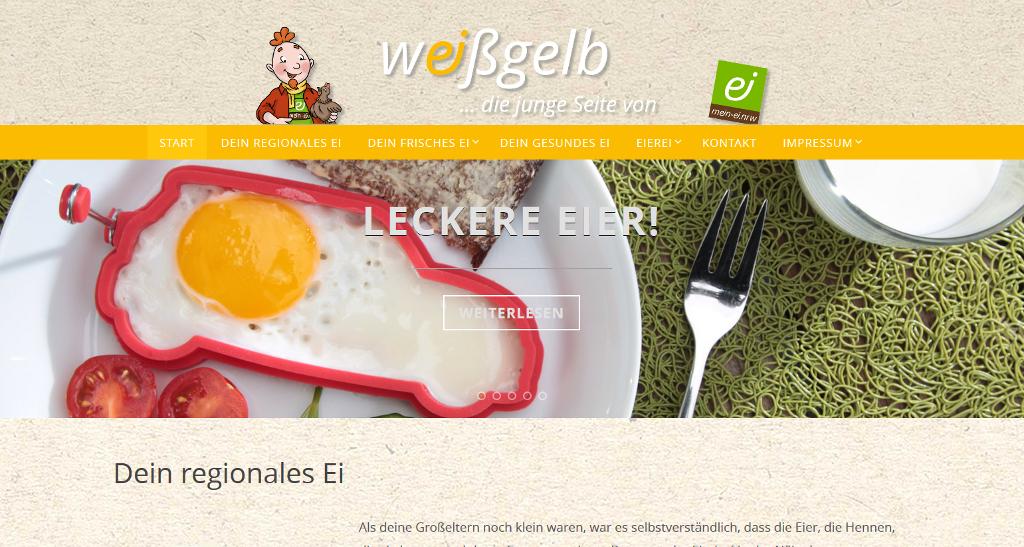 Abbildung: Screenshot der weißgelb.nrw Homepage