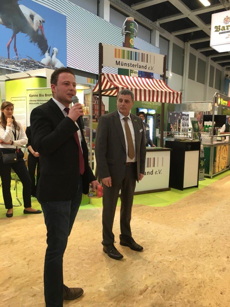 mein-ei.nrw Mitglied Alexander Vriesen und Jürgen Sons/LANUV NRW (rechts) auf der IGW 2018