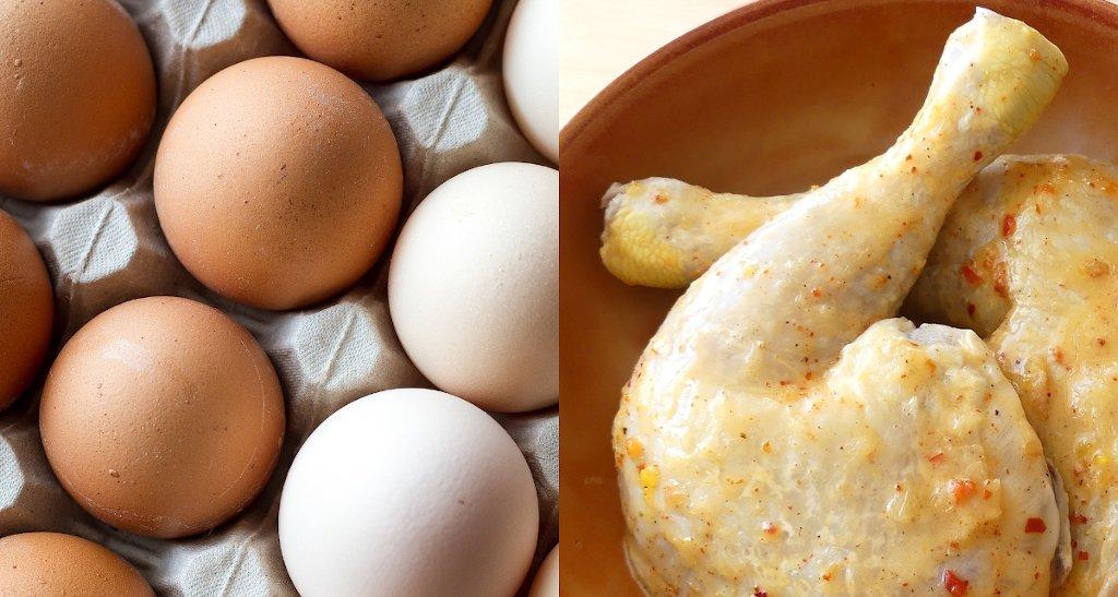 Foto: Eier und Hähnchenfleisch (Copyright: moiranazzari / safran7 - pixabay.com)