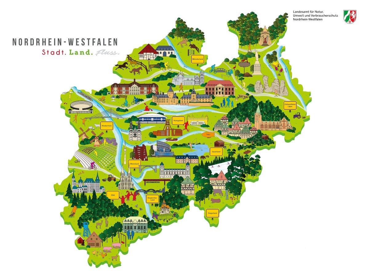 "Abbildung: Karte ""Stadt Land Fluss"" (Copyright: LANUV NRW)"